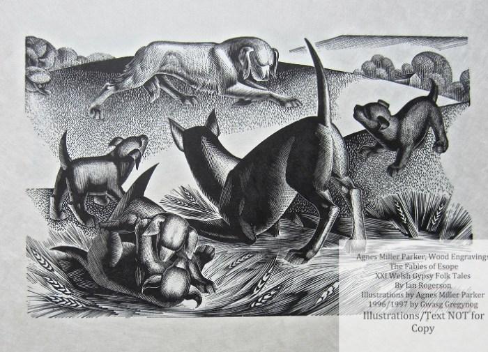 Agnes Miller Parker Wood-Engravings (Esope), Gregynog Press, Sample Illustration #2