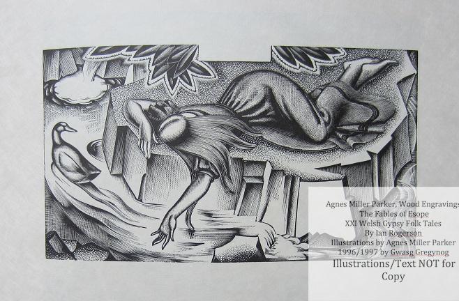 Agnes Miller Parker Wood-Engravings (Welsh Gypsy), Gregynog Press, Sample Illustration #3