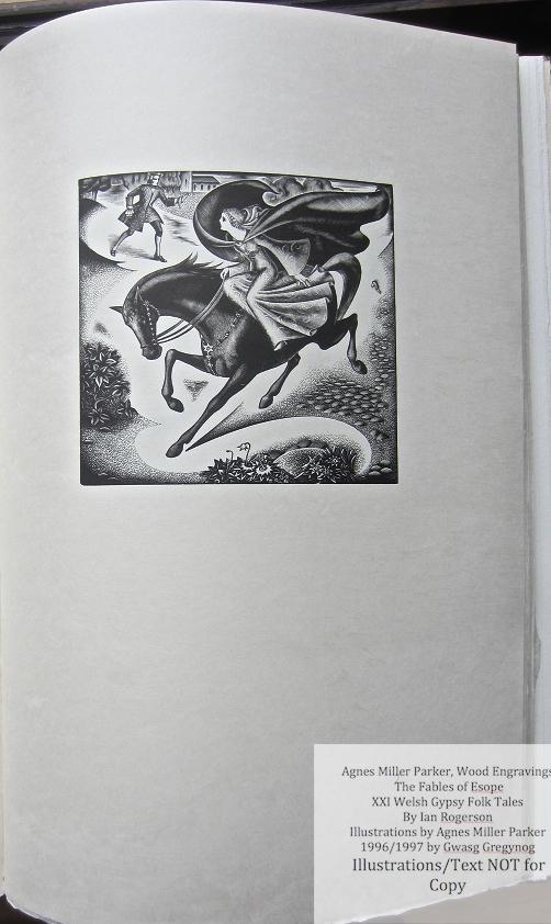 Agnes Miller Parker Wood-Engravings (Welsh Gypsy), Gregynog Press, Sample Illustration #4