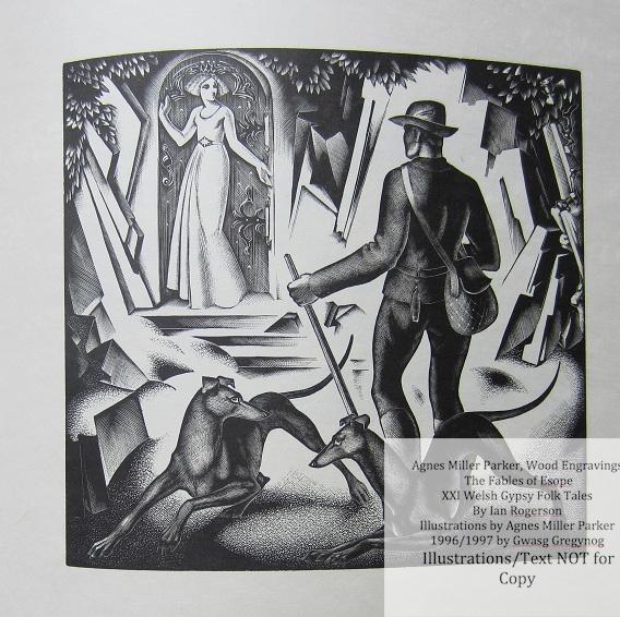 Agnes Miller Parker Wood-Engravings (Welsh Gypsy), Gregynog Press, Sample Illustration #5