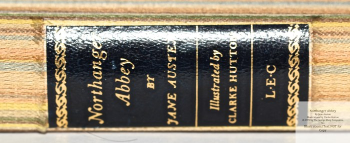 Northanger Abbey, Limited Editions Club, Spine Macro