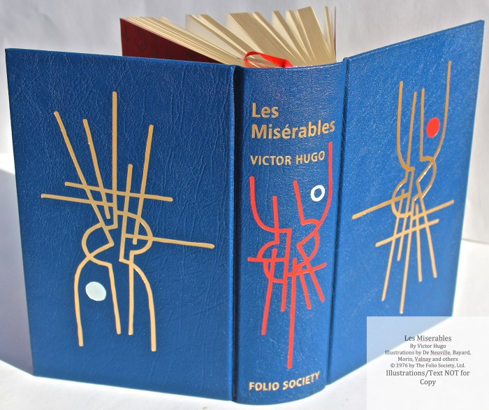 Les Miserables, The Folio Society LE, Spine and Covers
