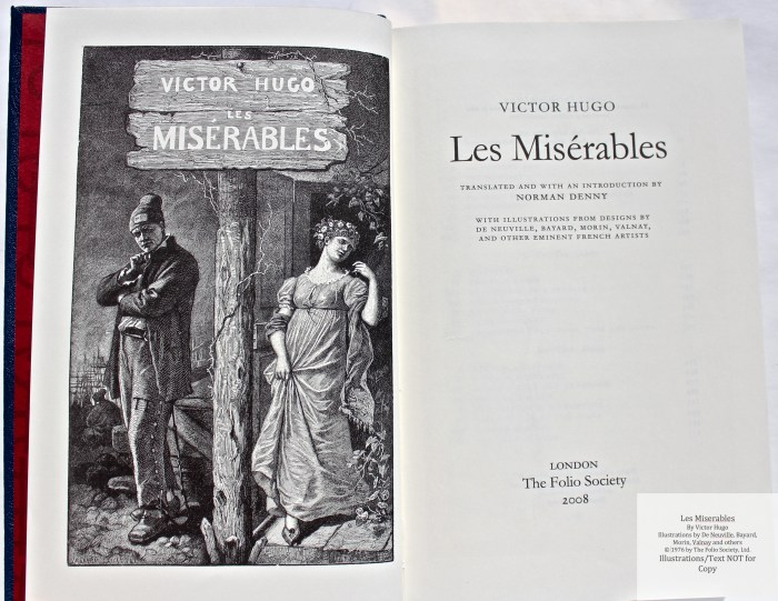 Les Miserables, The Folio Society LE, Frontispiece and Title Page