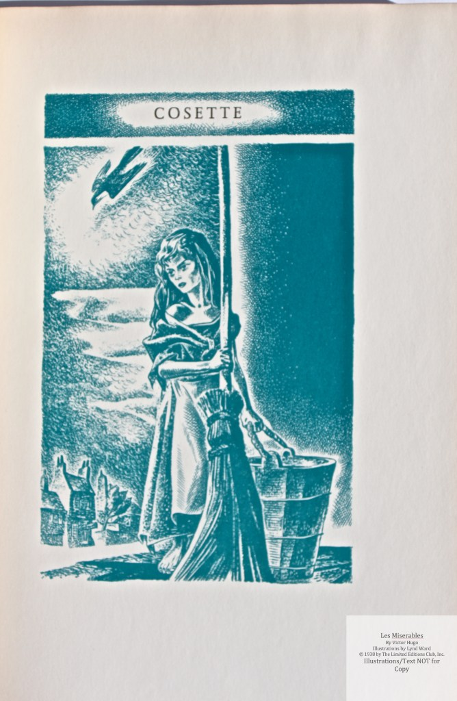 Les Miserables, Limited Editions Club, Sample Illustration #6 (Frontispiece Vol 2)