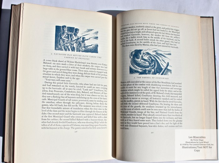 Les Miserables, Limited Editions Club, Sample Illustration #16 with Text