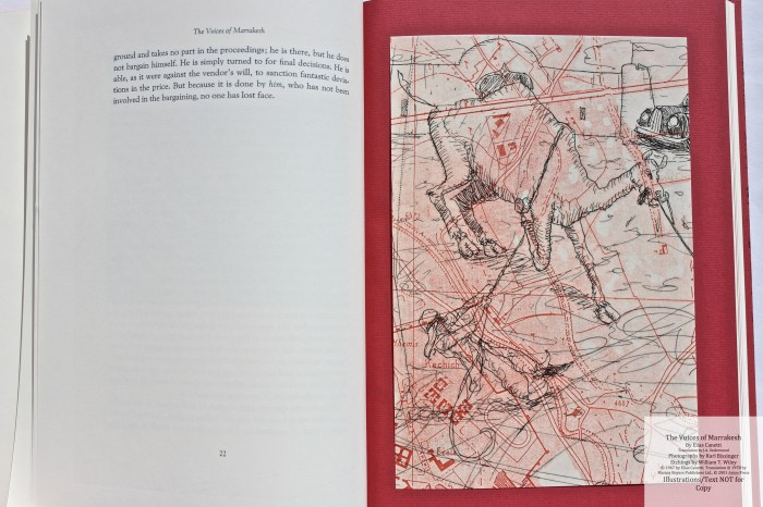 The Voices of Marrakesh, Arion Press, Sample Etching #1 with Text