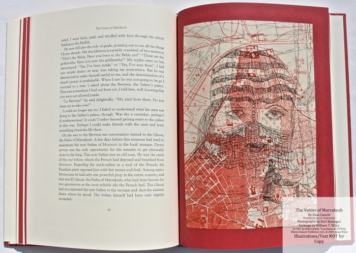 The Voices of Marrakesh, Arion Press, Sample Etching #3 with Text