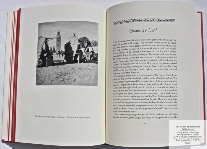 The Voices of Marrakesh, Arion Press, Sample Photograph #5 with Text