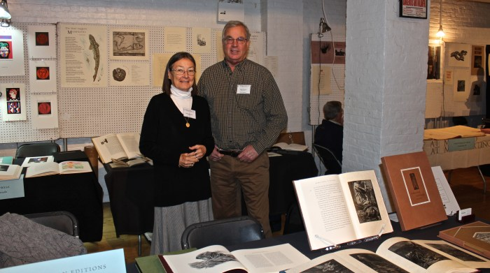David Pascoe of Nawakum Press with Cathy Wagener