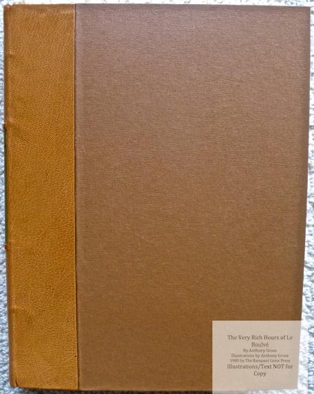 The Very Rich Hours of Le Boulvé, Rampant Lions Press, Cover