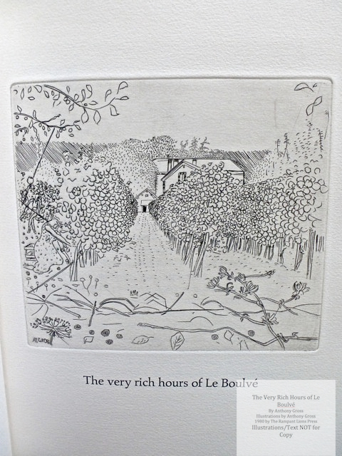 The Very Rich Hours of Le Boulvé, Rampant Lions Press, Sample Illustration #1 (M. Labruyere's vineyard)