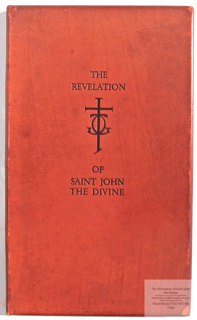 The Revelation of Saint John the Divine, Gregynog Press, Cover