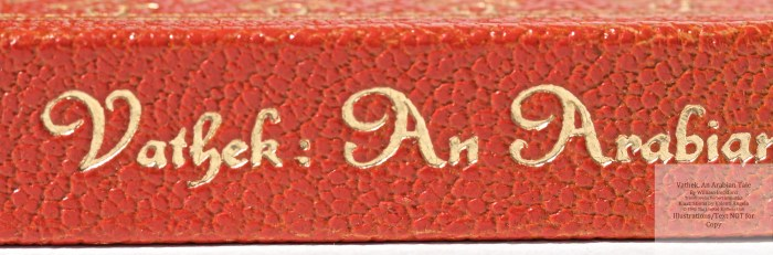 Vathek, An Arabian Tale,  Limited Editions Club, Spine Macro