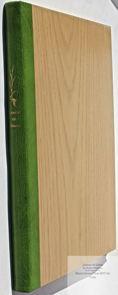 Leaves of Grass, Arion Press, Spine and Cover