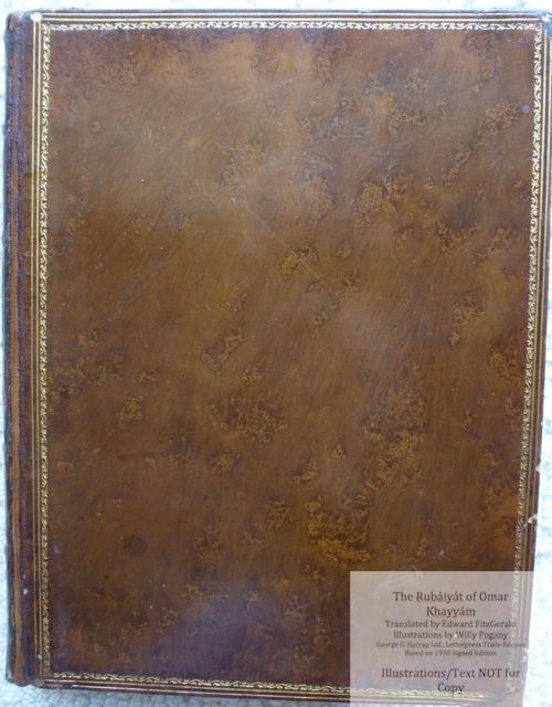 The Rubáiyát of Omar Khayyám, George G. Harrap & Co Ltd., Cover  - Polished calf and gilt vintage binding