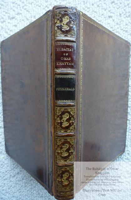The Rubáiyát of Omar Khayyám, George G. Harrap & Co Ltd., Spine and Cover