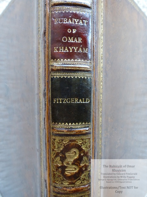 The Rubáiyát of Omar Khayyám, George G. Harrap & Co Ltd., Macro of Spine