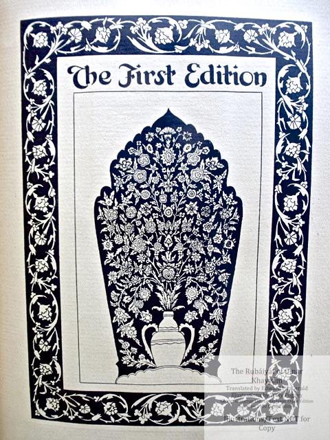 The Rubáiyát of Omar Khayyám, George G. Harrap & Co Ltd., Title Page for First Edition