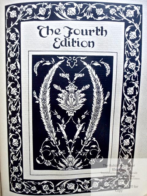 The Rubáiyát of Omar Khayyám, George G. Harrap & Co Ltd., Title Page to Fourth Edition