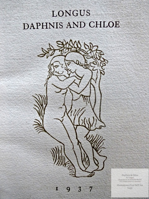 Daphnis and Chloe, Philippe Gonin for A. Zwemmer, Title Page