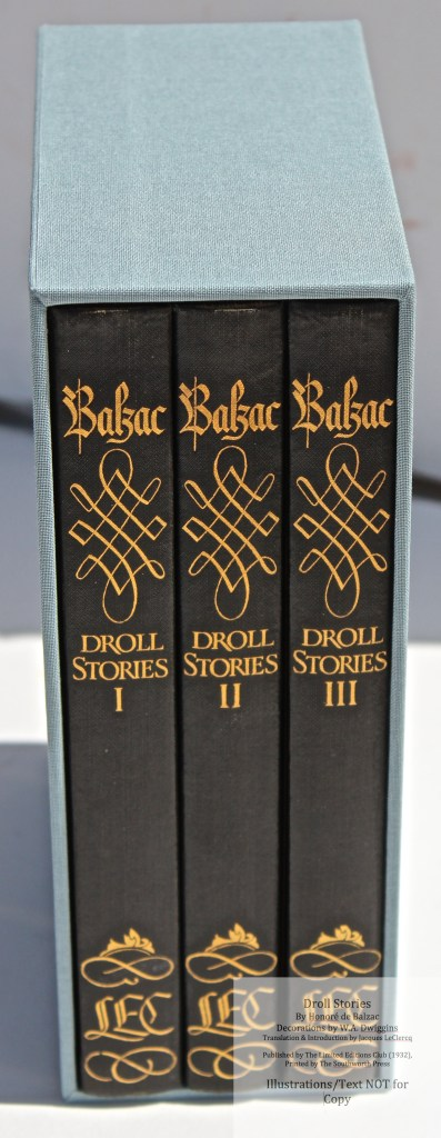 Droll Stories, Limited Editions Club, Books in Slipcase