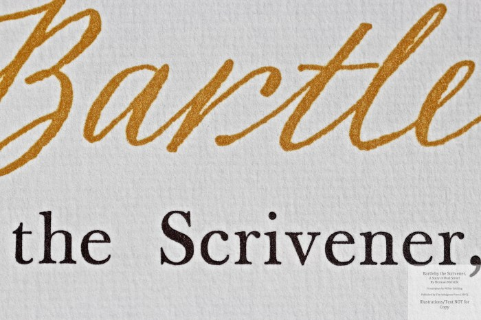 Bartleby, the Scrivener: A Story of Wall Street, Indulgence Press, Macro of Title Page