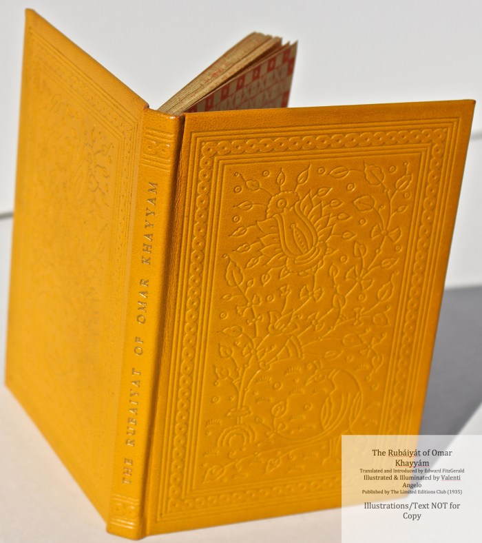 The Rubáiyát of Omar Khayyám, Limited Editions Club, Spine and Covers