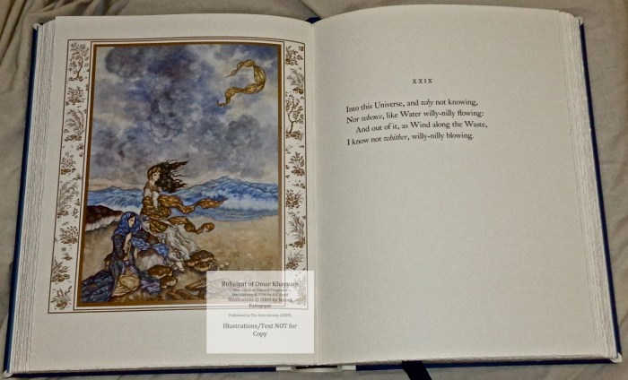 The Rubáiyát of Omar Khayyám, The Folio Society LE, Sample Illustration #2 with Text