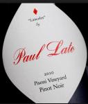 2010 Paul Lato Pinot Noir Lancelot Pisoni Vineyard