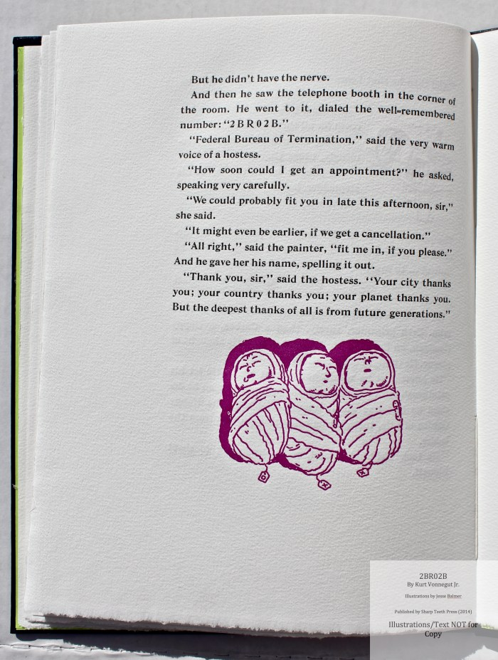 2BR02B, Sharp Teeth Press, Sample Illustration #5 with text