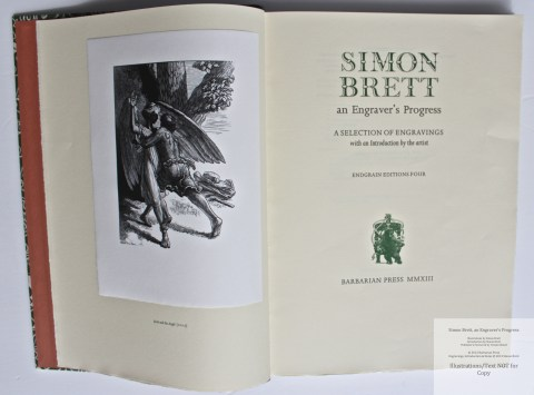 Simon Brett, an Engraver's Progress, Frontispiece and Title Page