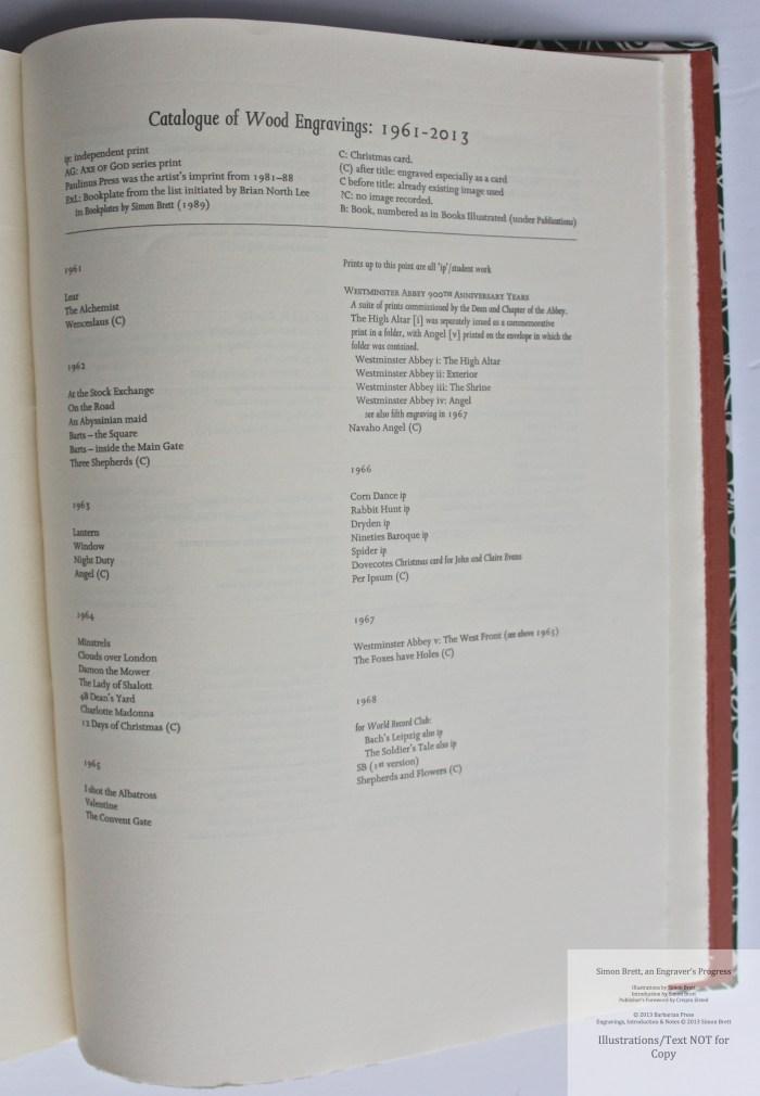 Simon Brett, an Engraver's Progress, Sample Text #3