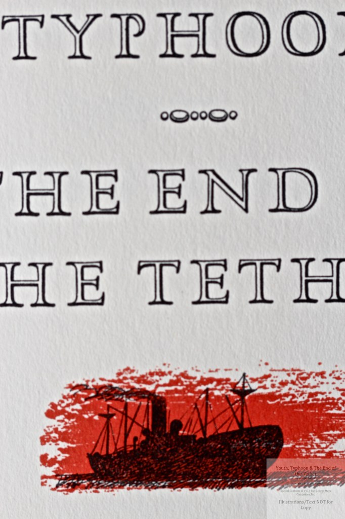 Youth, Typhoon, The End of the Tether, Limited Editions Club, Macro of Title Page