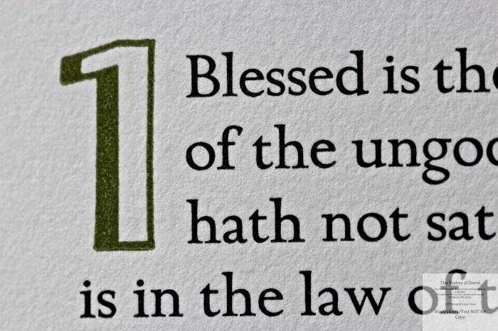 The Psalms of David, Rampant Lions Press, Macro of Sample Text #1