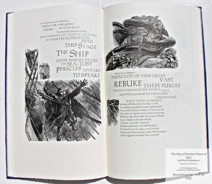 Pericles Prince of Tyre, Barbarian Press, Sample Illustration #6 with Text