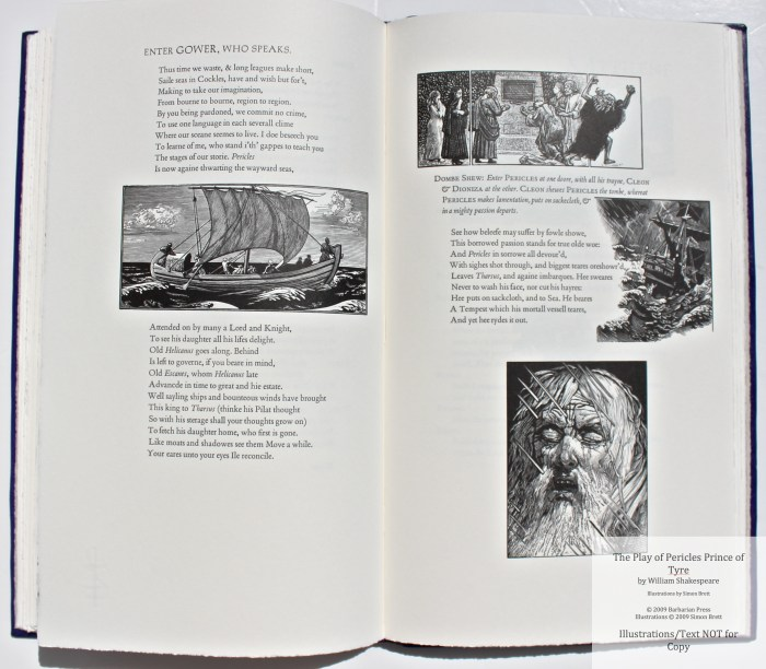 Pericles Prince of Tyre, Barbarian Press, Sample Illustration #10 with Text