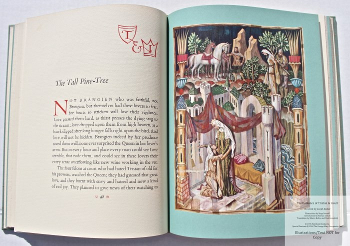 The Romance of Tristan and Iseult, Limited Editions Club, Sample Illustration #2 with Text