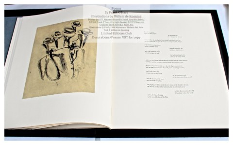 Poems of Frank O'Hara, Sample Text Page with Illustration