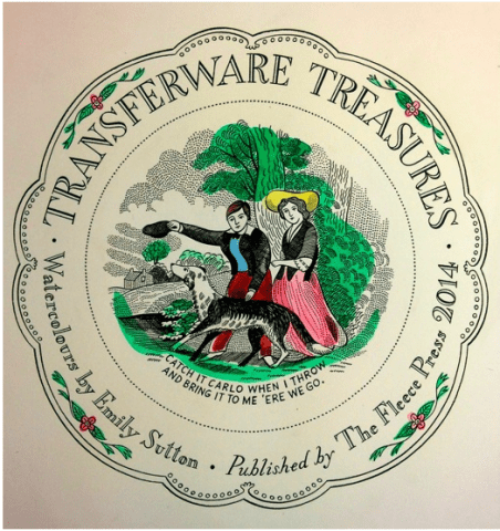 Transferware Treasures 25 watercolour paintings of nineteenth century pottery by Emily Sutton, The Fleece Press