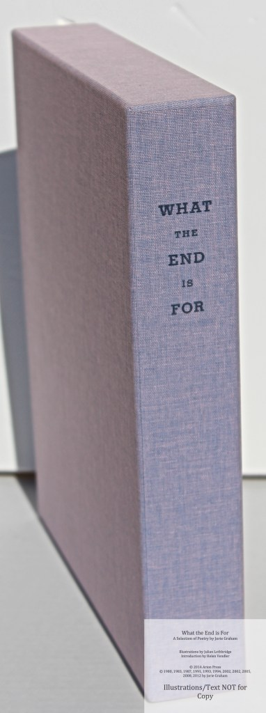 What the End is For, Arion Press, Slipcase Spine