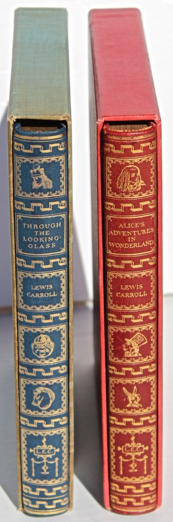 Alice in Wonderland and Through the Looking Glass, Limited Editions Club, Book Spines