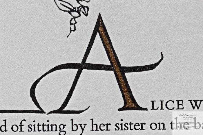 Alice's Adventures in Wonderland, Pennyroyal Press, Macro of Opening Page