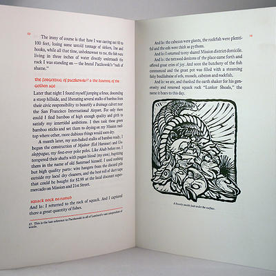 Me, Myself and the Monkeyface Eel, The Prototype Press, Sample Text and Illustration