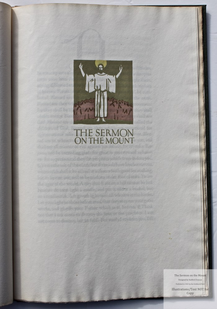 The Sermon on the Mount, Grabhorn Press, Title Page