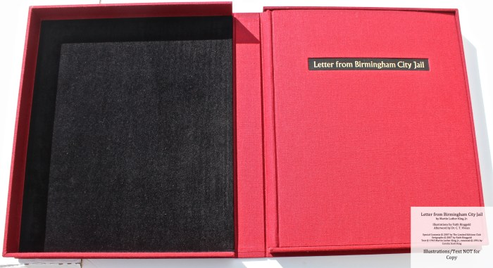 Letter from Birmingham Jail, Limited Editions Club, Book in Solander