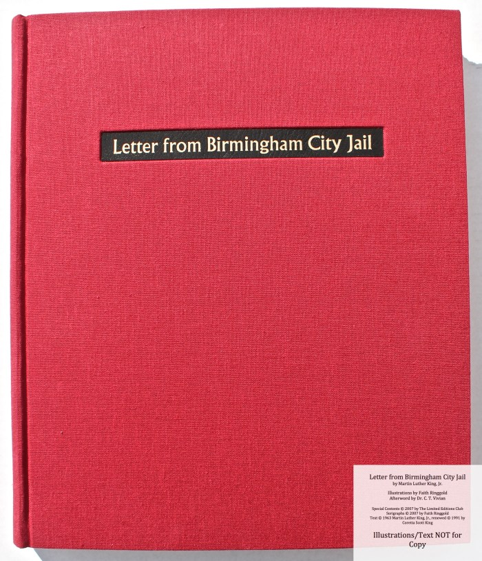 Letter from Birmingham Jail, Limited Editions Club, Front Cover