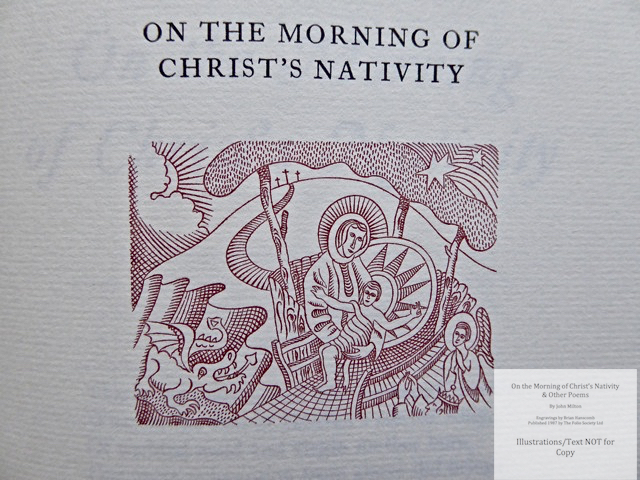 On the Morning of Christ's Nativity & other poems, The Folio Society, Sample Illustration #1