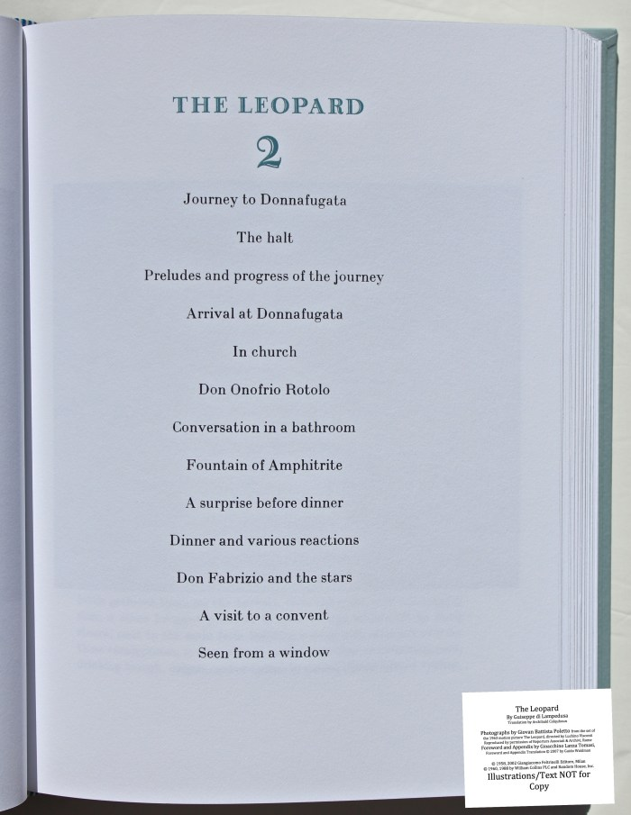 The Leopard, Arion Press, Sample Text #3