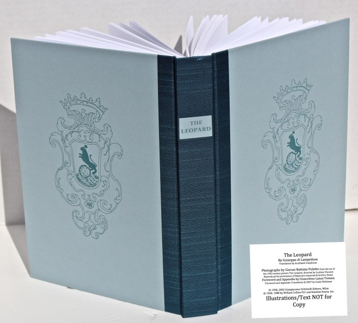 The Leopard, Arion Press, Spine and Covers