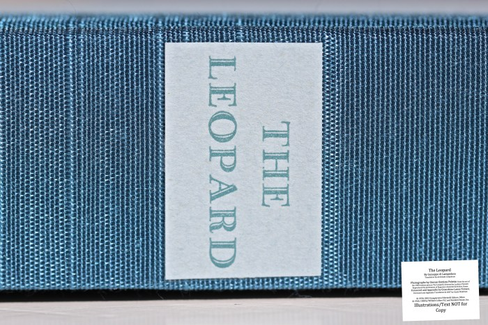 The Leopard, Arion Press, Spine Macro